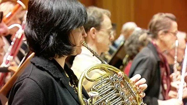 Eröffnungs-Fanfare (Aufnahme-Session)