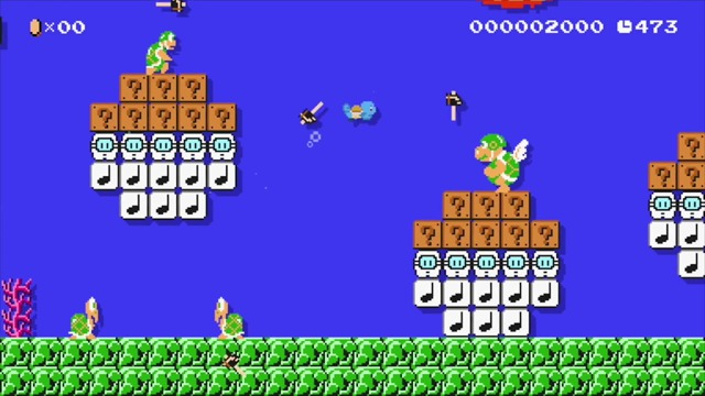 Starter-Pokemon im Mario-Maker